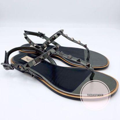 Picture of Valentino Rockstud Sandals Gunmetal