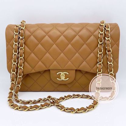 Picture of Chanel Jumbo Double Flap Caramel