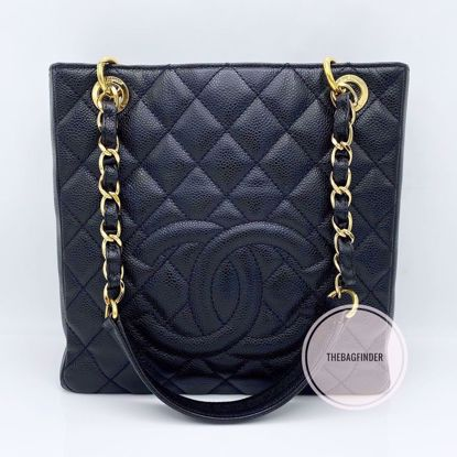 Picture of Chanel PST Caviar Black and Gold HW