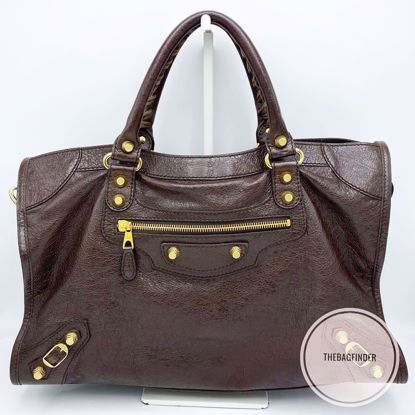 Picture of Balenciaga City Giant 12 Brown and Gold