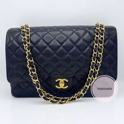 Picture of Chanel Maxi Black Caviar Double Flap