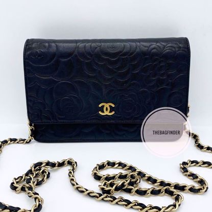Picture of Chanel WOC Camellia Lambskin