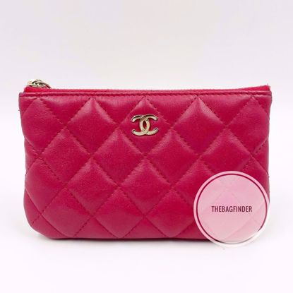 Picture of Chanel O Case, Wallet / Pouch Red Lambskin