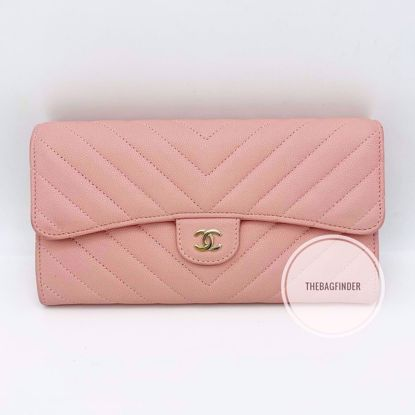 Picture of Chanel Caviar Pink Champage HW Wallet